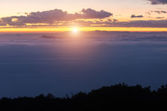 Landschap van Chiang Dao-berg met wolk in Chiangmai, Thaila Royalty-vrije Stock Foto