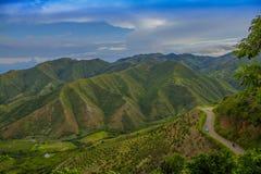 Landschap van van Colombia, Valle del Cauca stock fotografie
