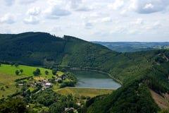 Landschap van Coo in België stock foto's