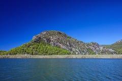 Landschap van Dalyan-rivier Stock Afbeelding