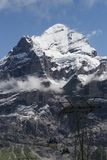 Landschap van de alpen van sneeuwbergen Royalty-vrije Stock Foto's