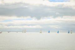 Landschap van de Atlantische kust van een Frans eiland Stock Afbeeldingen