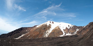Landschap van de berg het pieksneeuw Stock Afbeelding