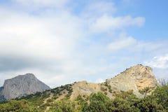 Landschap van de bergen van de Krim Stock Afbeeldingen