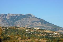 Landschap van de bergen van de Krim Royalty-vrije Stock Fotografie