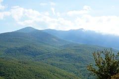 Landschap van de bergen van de Krim Stock Fotografie