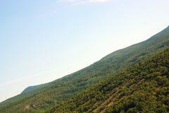 Landschap van de bergen van de Krim Stock Foto