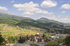 Landschap van de Bukovel het Toneelberg Stock Afbeeldingen