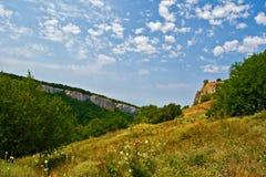 Landschap van de centrale Krim Stock Foto's