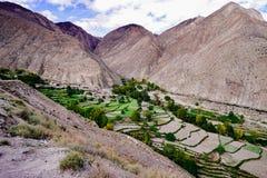 Landschap in van de de aandrijvingsweg van het xizangtoerisme de Bergdraai 72 royalty-vrije stock foto's