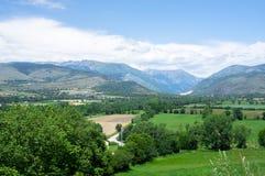 Landschap van de de bergen en gebieden van de Pyreneeën Royalty-vrije Stock Fotografie