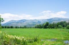 Landschap van de de bergen en gebieden van de Pyreneeën Royalty-vrije Stock Afbeelding