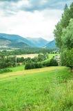Landschap van de de bergen en gebieden van de Pyreneeën Stock Afbeeldingen