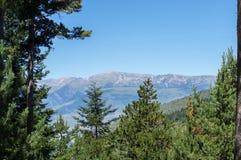 Landschap van de het bos en bergen van de Pyreneeën Stock Afbeeldingen