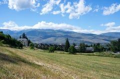 Landschap van de het gebied en bergen van de Pyreneeën Stock Fotografie