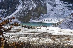 Landschap van de Himalayan-bergen, Nepal, Royalty-vrije Stock Afbeeldingen