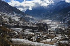 Landschap van de Himalayan-bergen, Nepal, Royalty-vrije Stock Afbeelding