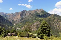 Landschap van de Marmora-berg Stock Foto