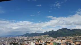 Landschap van de middag van Bogota Stock Afbeeldingen