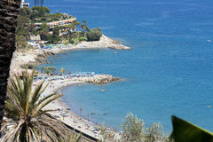 Landschap van de overzeese kust Stock Afbeelding