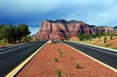 Landschap van de rots van de Kathedraal in Sedona Arizona Royalty-vrije Stock Afbeeldingen