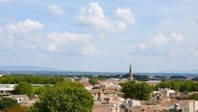 Landschap van de stad van Avignon, Frankrijk stock footage