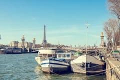 Landschap van de stad van Parijs Stock Foto's