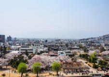 Landschap van de stad van Matsumoto, Japan 1 Royalty-vrije Stock Foto's