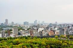 Landschap van de stad van Osaka, Japan Royalty-vrije Stock Afbeeldingen