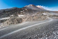 Landschap van de vulkaan van Etna, Sicilië, Italië royalty-vrije stock foto