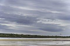 Landschap van Dunnet-Baai beag stock afbeelding