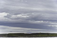Landschap van Dunnet-Baai beag Royalty-vrije Stock Afbeelding