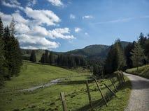 Landschap van een deel in de Alpen Stock Fotografie