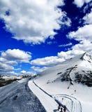 Landschap van een skitoevlucht in Zwitserland Stock Afbeelding