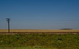 Landschap van een spoorweg op een wegreis Royalty-vrije Stock Foto's