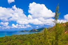Landschap van eiland Praslin - Seychellen Royalty-vrije Stock Foto's