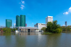Landschap van gebouwen in Bangkok, Thailand royalty-vrije stock afbeelding