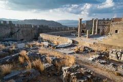 Landschap van Griekse Ruïnes stock foto's