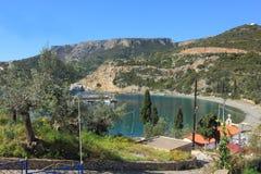 Landschap van Griekse Sampatiki Stock Afbeeldingen