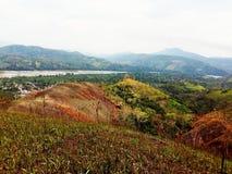 Landschap van groene bergen royalty-vrije stock foto