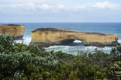 Landschap van Grote Oceaanweg in Victoria Australia Royalty-vrije Stock Foto