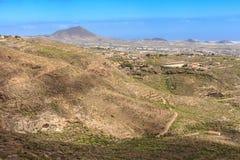 Landschap van Guia de Isora Stock Afbeeldingen