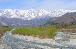 Landschap van Hakuba in Nagano, Japan Stock Afbeeldingen