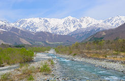 Landschap van Hakuba in Nagano, Japan Stock Afbeelding