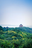 Landschap van hangzhou het beroemde chenghuangge van China in de avond Royalty-vrije Stock Fotografie