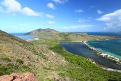 Landschap van Heilige Kitts stock foto