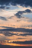 Landschap van hemel het levendige kleuren met wolken Royalty-vrije Stock Afbeelding