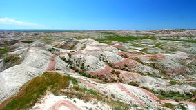 Landschap van het Badlands het Nationale Park stock footage