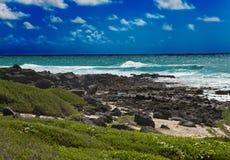 Landschap van het eiland Gabriel in een zonnige dag stock fotografie