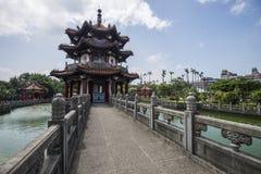 Landschap van het gebouw en het park in Taipeh Taiwan Stock Afbeelding
